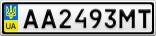 Номерной знак - AA2493MT