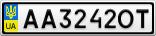 Номерной знак - AA3242OT