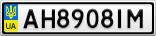 Номерной знак - AH8908IM