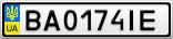 Номерной знак - BA0174IE