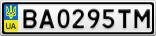 Номерной знак - BA0295TM
