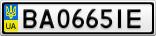 Номерной знак - BA0665IE