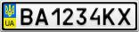 Номерной знак - BA1234KX