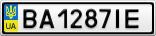 Номерной знак - BA1287IE