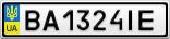 Номерной знак - BA1324IE