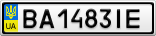 Номерной знак - BA1483IE