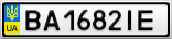 Номерной знак - BA1682IE