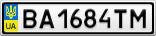 Номерной знак - BA1684TM