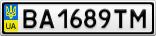 Номерной знак - BA1689TM