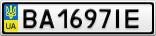 Номерной знак - BA1697IE