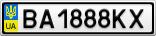 Номерной знак - BA1888KX