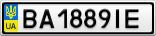 Номерной знак - BA1889IE
