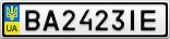 Номерной знак - BA2423IE