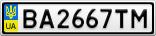 Номерной знак - BA2667TM