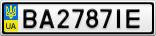 Номерной знак - BA2787IE