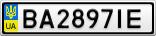 Номерной знак - BA2897IE