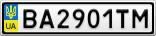 Номерной знак - BA2901TM