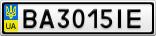 Номерной знак - BA3015IE