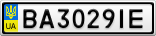 Номерной знак - BA3029IE