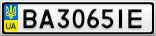 Номерной знак - BA3065IE