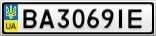 Номерной знак - BA3069IE