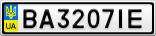 Номерной знак - BA3207IE