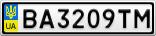 Номерной знак - BA3209TM