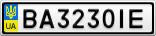 Номерной знак - BA3230IE