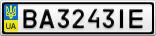 Номерной знак - BA3243IE