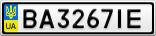 Номерной знак - BA3267IE