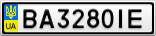 Номерной знак - BA3280IE