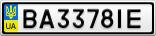Номерной знак - BA3378IE