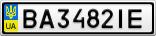 Номерной знак - BA3482IE