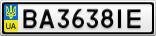 Номерной знак - BA3638IE