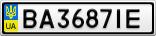 Номерной знак - BA3687IE