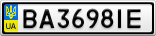 Номерной знак - BA3698IE