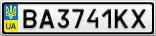 Номерной знак - BA3741KX