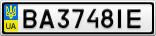 Номерной знак - BA3748IE