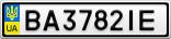 Номерной знак - BA3782IE