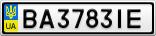 Номерной знак - BA3783IE