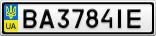 Номерной знак - BA3784IE