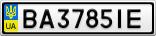 Номерной знак - BA3785IE
