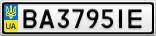 Номерной знак - BA3795IE