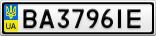 Номерной знак - BA3796IE