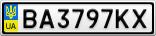 Номерной знак - BA3797KX