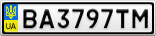 Номерной знак - BA3797TM