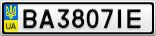 Номерной знак - BA3807IE