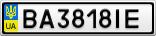 Номерной знак - BA3818IE