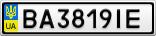 Номерной знак - BA3819IE