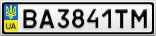 Номерной знак - BA3841TM